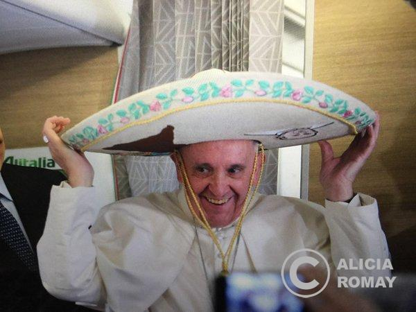 El Papa Francisco al estilo mexicano.