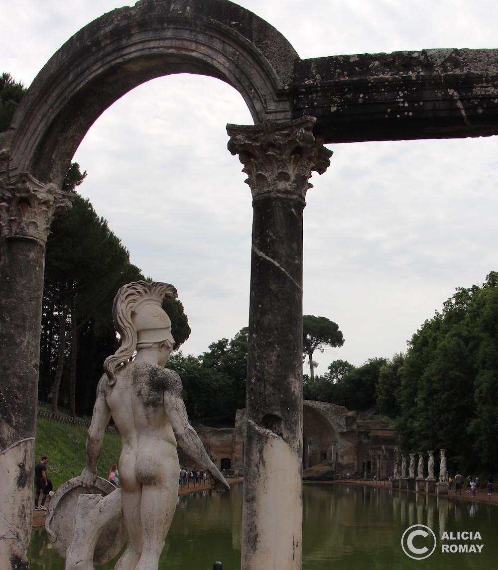 El gran embalse de Villa Adriana