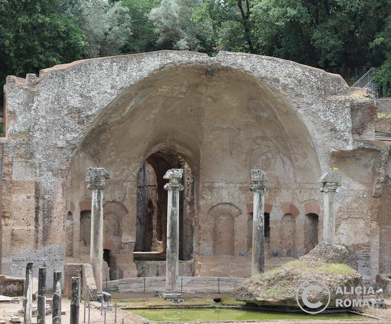 Restos de uno de los palazzos de Villa Adriana